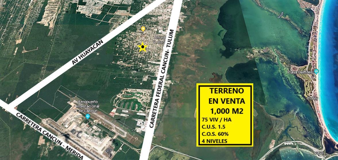 Foto Terreno en Venta en  Cancún,  Benito Juárez  TERRENO EN VENTA CANCUN 1,000M2 PROL DOCTORES C2524