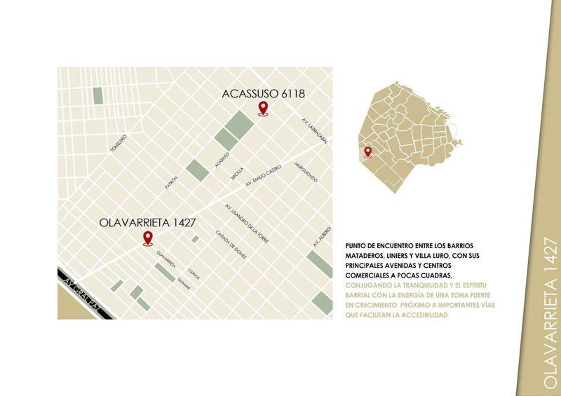 Foto Departamento en Venta en  Mataderos ,  Capital Federal  Diego de Olavarrieta 1427 PB