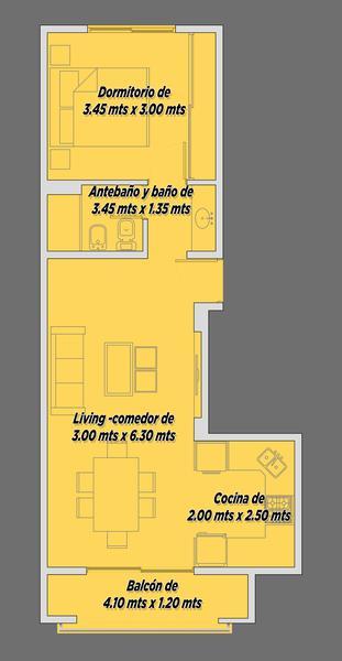 """Foto Departamento en Venta en  Ezeiza ,  G.B.A. Zona Sur  Jose Maria Ezeiza 262 STYLO II """"2°A"""""""