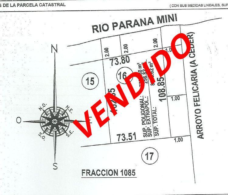 Foto Terreno en Venta en  Paraná Miní,  Zona Delta San Fernando  Paraná Miní
