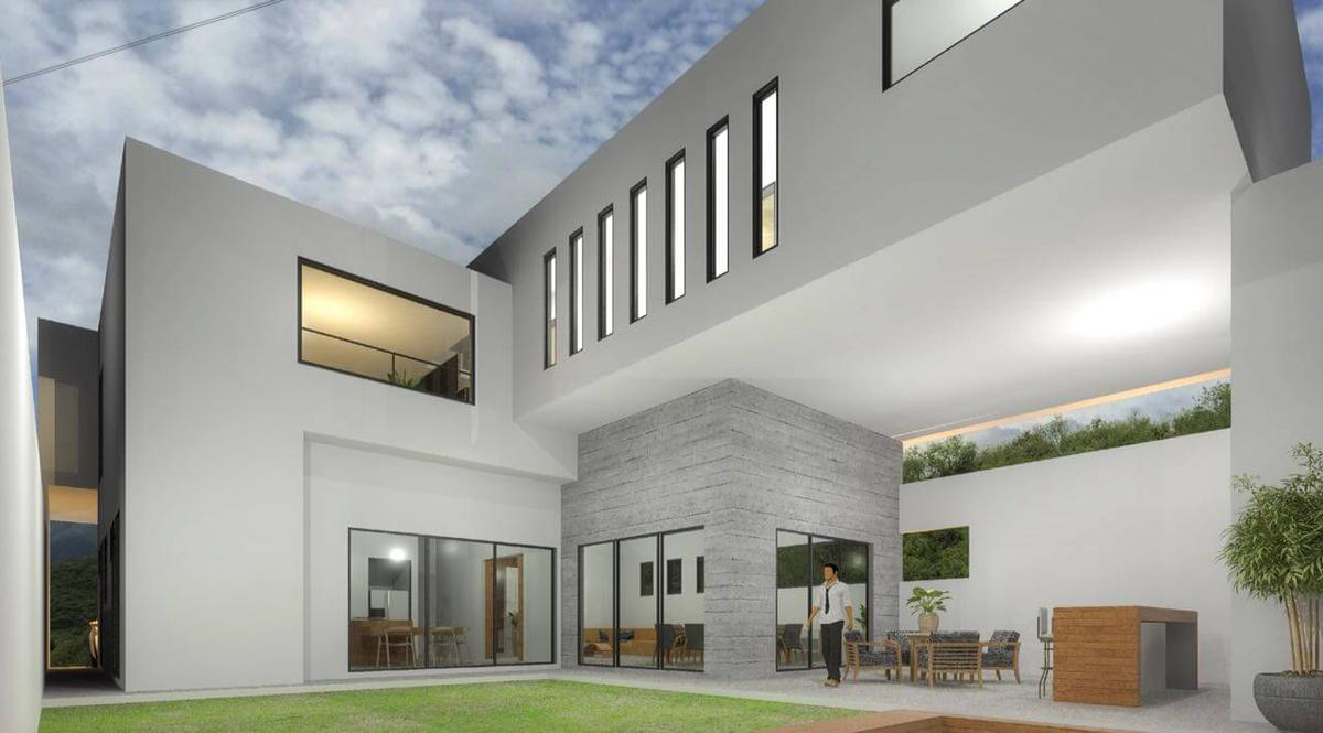 Foto Casa en Venta en  Sierra Alta 1era. Etapa,  Monterrey  Casa en Venta en Proyecto en Fracc . Sierra Alta - Zona Sur (CH) Contemporaneo NUEVO en ESQUINA