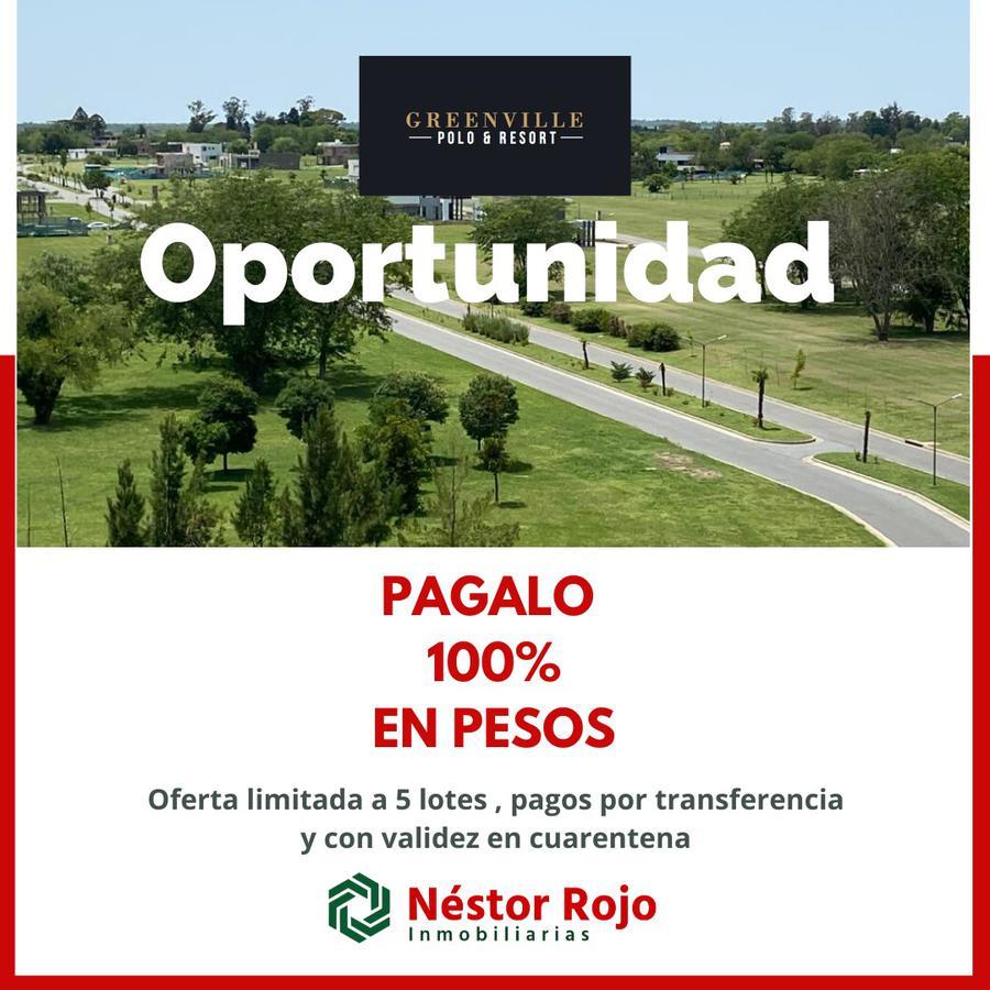 Foto Terreno en Venta en  Greenville Polo & Resort,  Guillermo E Hudson  Greenville Barrio D Ville 4 Lote 2 OPORTUNIDAD PAGALO EN PESOS!!!