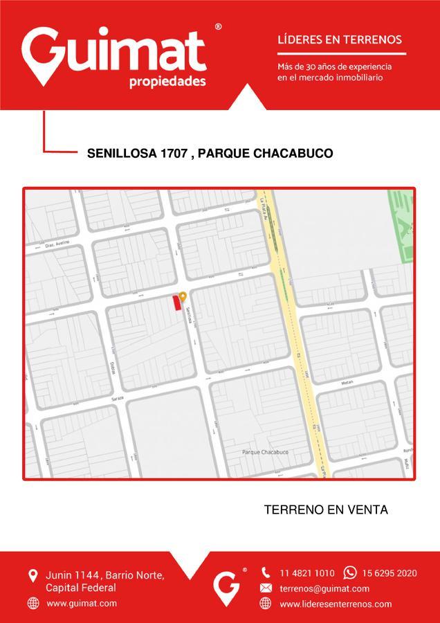 Foto Terreno en Venta en  Parque Chacabuco ,  Capital Federal  Senillosa  al 1700