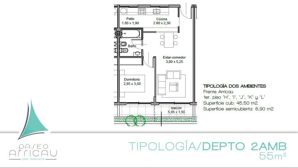 Foto Departamento en Venta |  en  Tigre ,  G.B.A. Zona Norte  Departamento venta en pozo de 2 ambientes en complejo Tigre