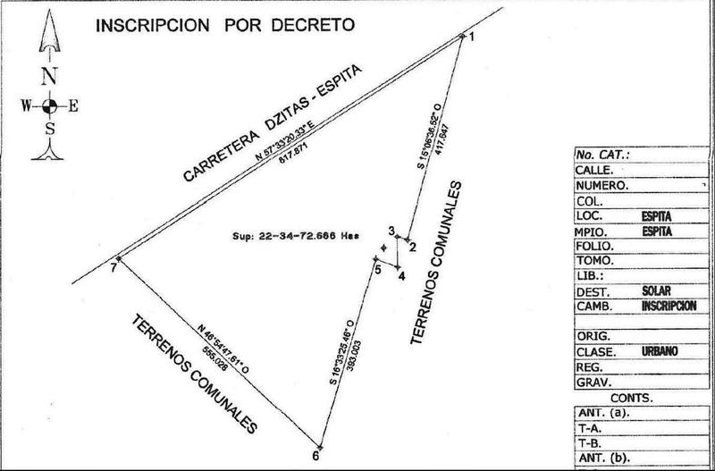 Foto Terreno en Venta en  Villa Espita,  Espita   Terreno Venta Espita Yucatan 22 Hectareas