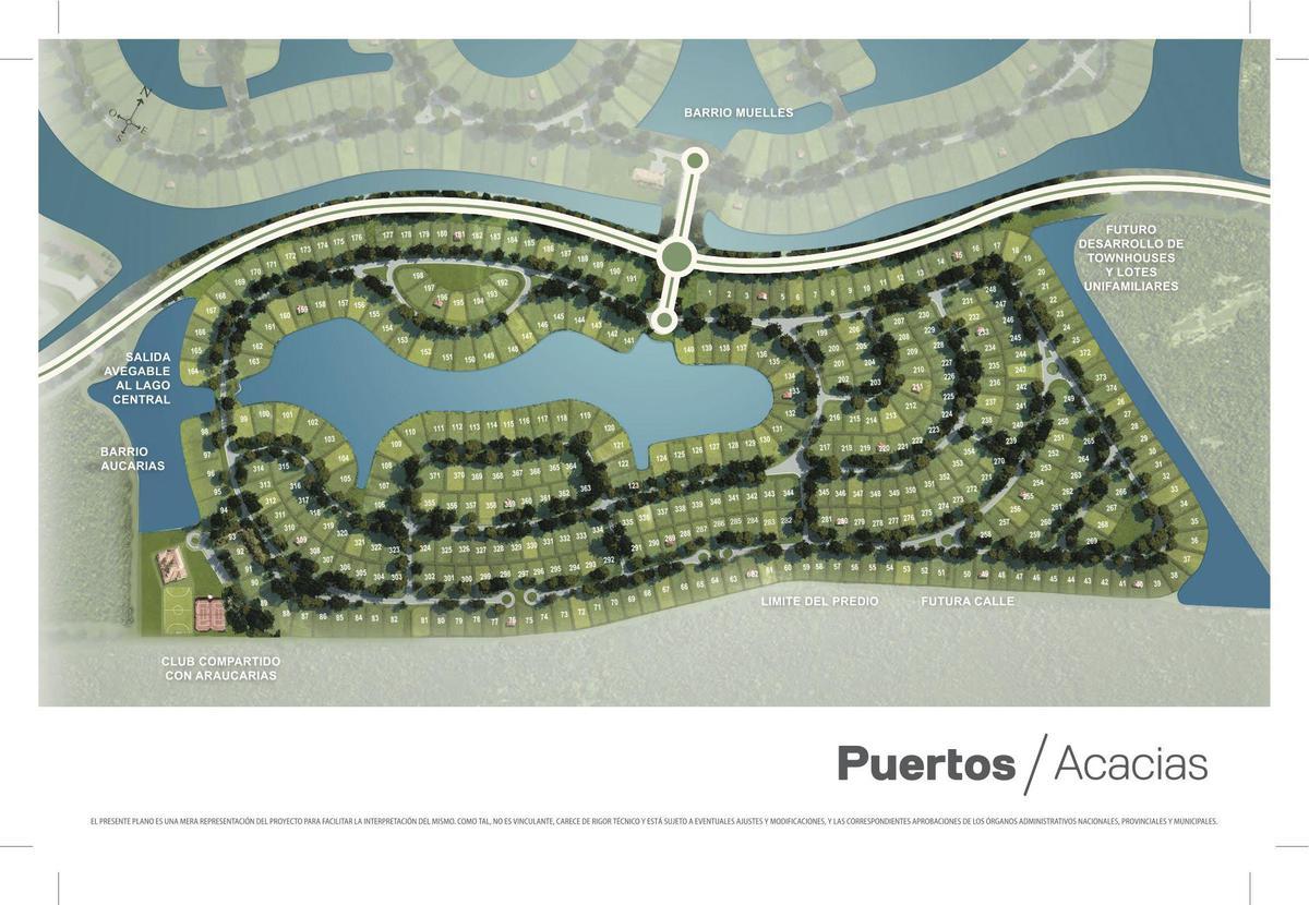 Foto Terreno en Venta en  Muelles,  Puertos del Lago  Puertos del Lago, Muelles