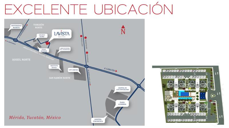 Foto Departamento en Venta en  Pueblo Temozon Norte,  Mérida  LAVISTA DEPARTAMENTOS