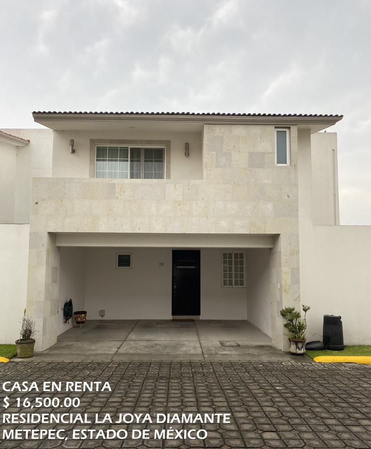 Foto Casa en condominio en Renta en  Metepec ,  Edo. de México          Casa en RENTA, Residencial La Joya Diamante, Metepec, Estado de México