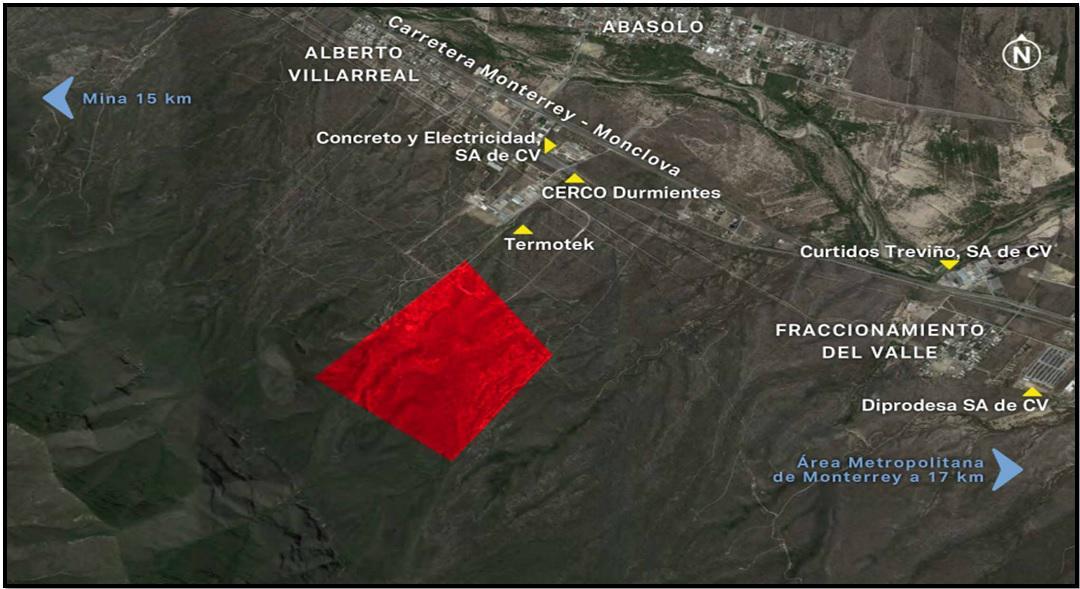 Foto Terreno en Venta en  Abasolo ,  Nuevo León  Terreno en Abasolo N.L. ubicado a 1.1 km de la Carretera Monterrey-Monclova km 19