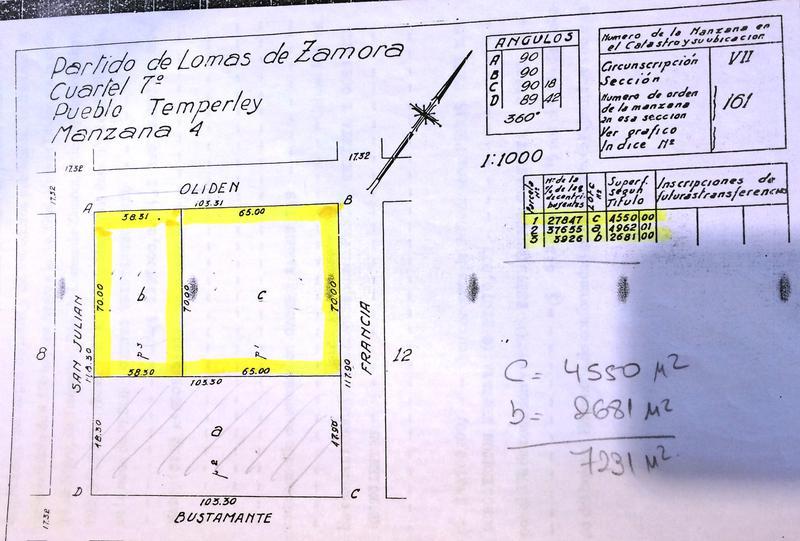 Foto Terreno en Venta en  Lomas De Zamora ,  G.B.A. Zona Sur  Oliden al 1500