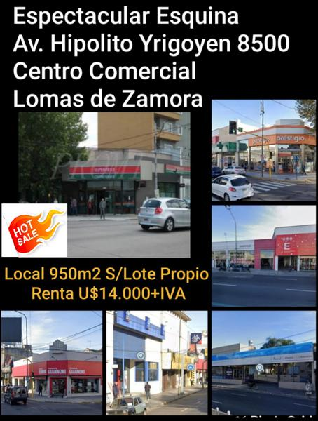 Foto Local en Venta en  Lomas De Zamora,  Lomas De Zamora  Hipolito Yrigoyen  al 8400