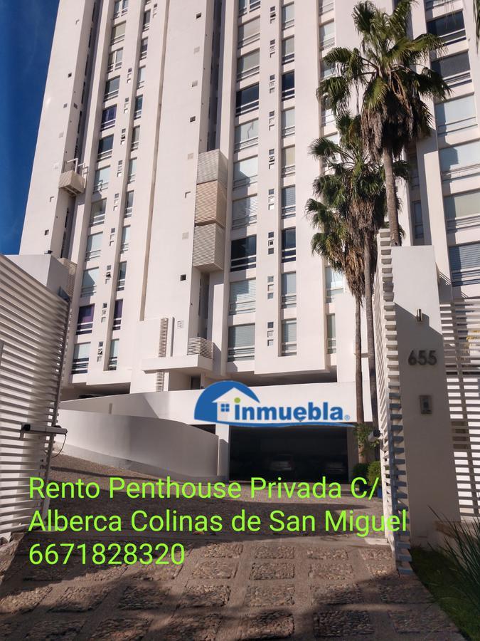 Foto Departamento en Renta en  Fraccionamiento Colinas de San Miguel,  Culiacán  Rento Penthouse 2 Recamaras Privada Alberca Elevador Directo