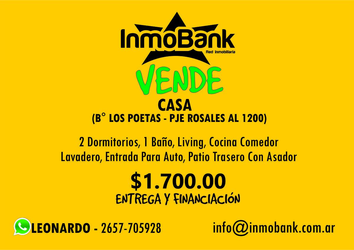 Foto Casa en Venta en  Villa Mercedes,  Pedernera  B LOS POETAS