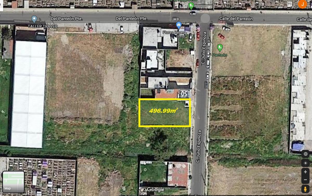 Foto Terreno en Venta en  Santa María,  San Mateo Atenco  Venta de Terreno para Desarrolladores de 496.99m2 en San Mateo Atenco, Barrio Santa Maria