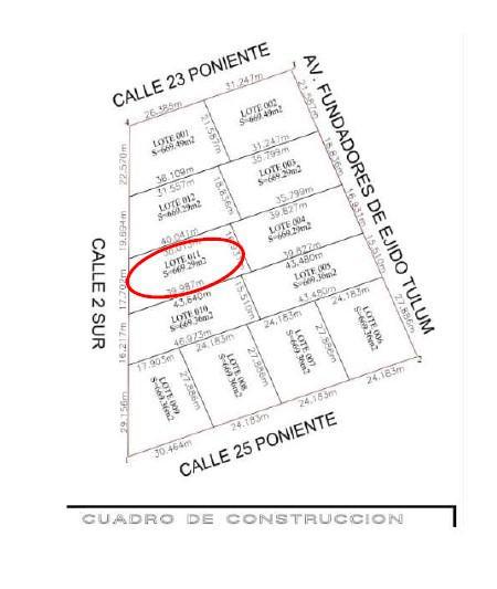 Foto Terreno en Venta en  Region 15 Kukulcan,  Tulum  Lote  de 669 m2 en region 15, Tulum. Super precio