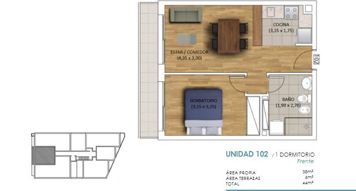 Foto Departamento en Venta en  Malvín ,  Montevideo  Malvín, GARAJE INCLUIDO a estrenar