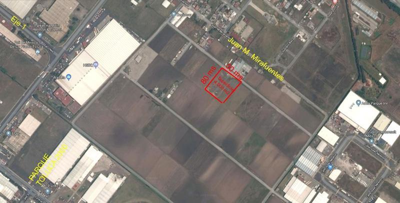 Foto Terreno en Venta en  San Blas Otzacatipan,  Toluca  Terreno Industrial en venta atrás del parque Industrial Toluca 2000,  4,000 m2
