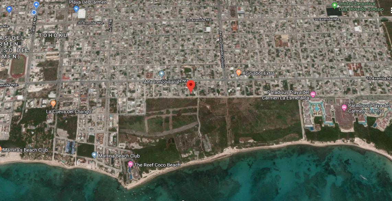 Foto Terreno en Venta en  Playa del Carmen,  Solidaridad  TERRENO 880 m2 SOBRE LA 5TA AV.