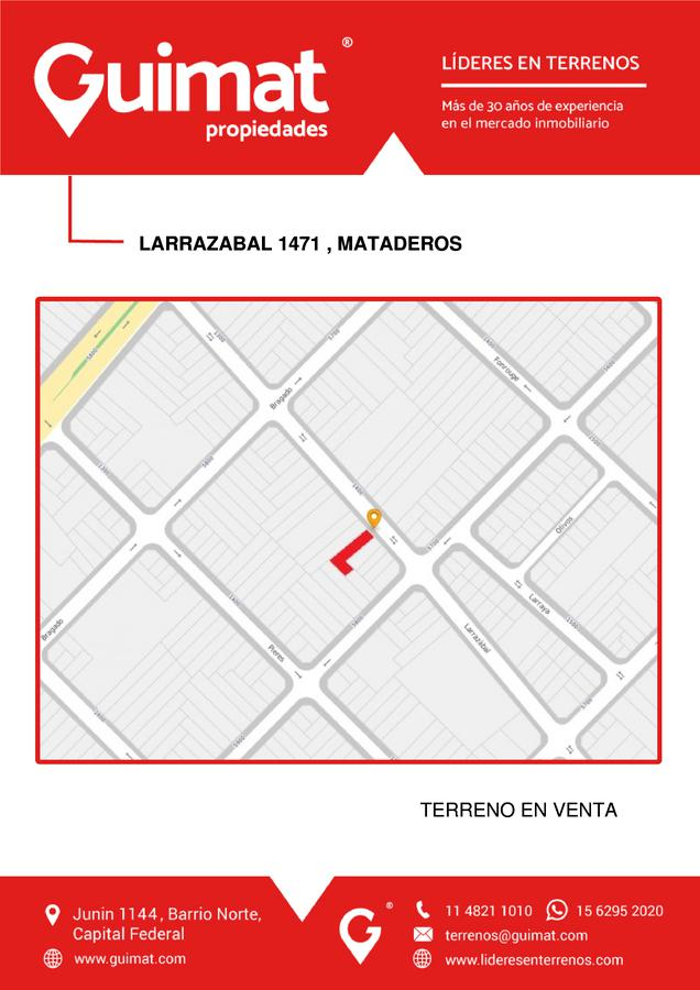 Foto Terreno en Venta en  Mataderos ,  Capital Federal  LARRAZABAL al 1400