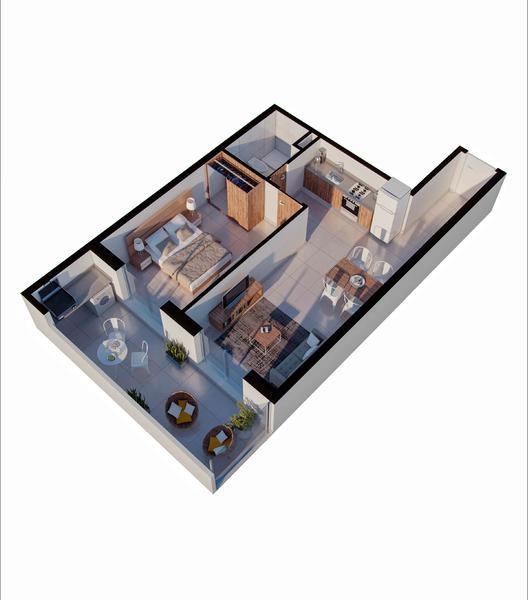 venta departamento 1 dormitorio Rosario, PELLEGRINI Y CORRIENTES. Cod CBU34621 AP3499279 Crestale Propiedades