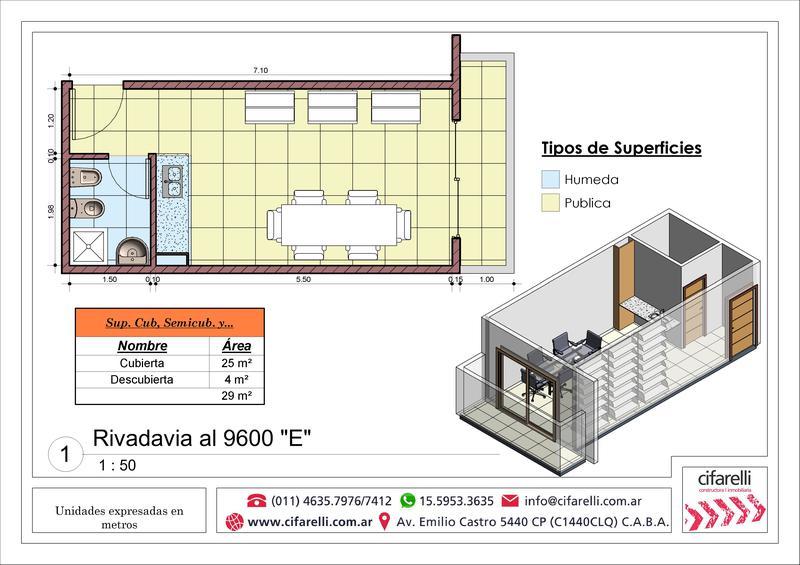 Foto Departamento en Venta en  Villa Luro ,  Capital Federal  Av. Rivadavia al 9600 1° E