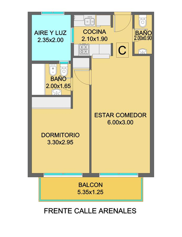 Foto Departamento en Venta en  Guemes ,  Mar Del Plata  ARENALES 2800 • THAMES 5