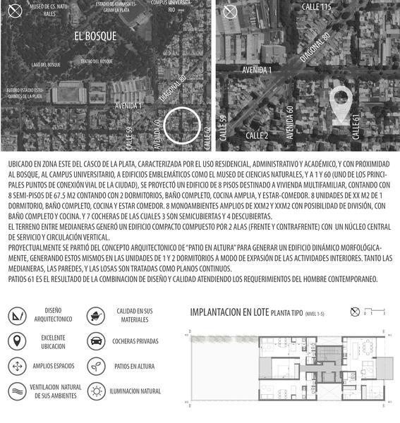 Foto Departamento en Venta en  La Plata ,  G.B.A. Zona Sur  61 entre 1 y 2