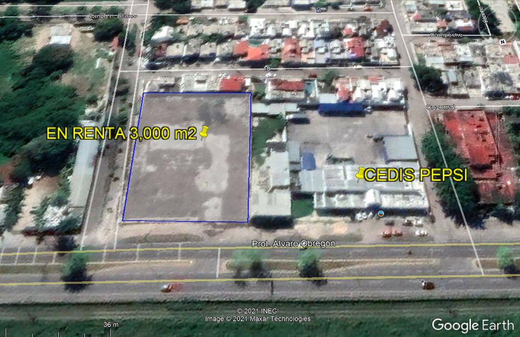 Foto Terreno en Renta en  Chetumal ,  Quintana Roo  AV ALVARO OBREGON, CHETUMAL