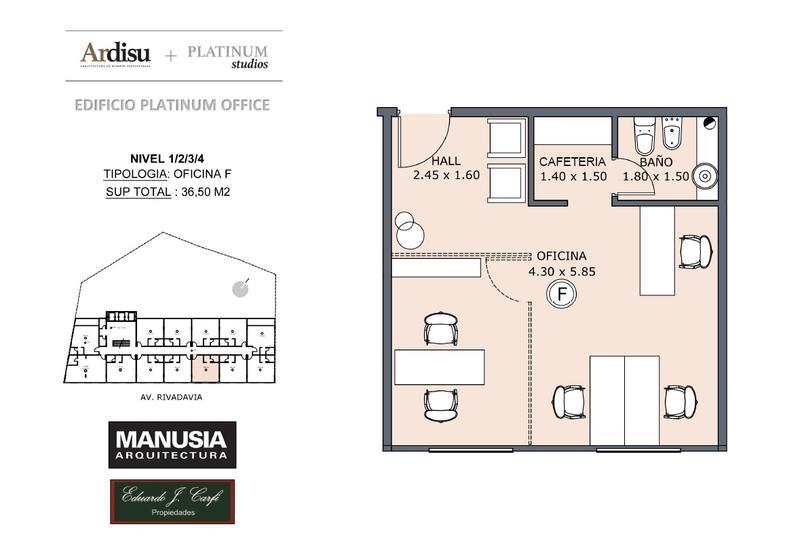 Foto Oficina en Venta en  Castelar Norte,  Castelar  Platinum Office - Rivadavia 19.861 (4F)