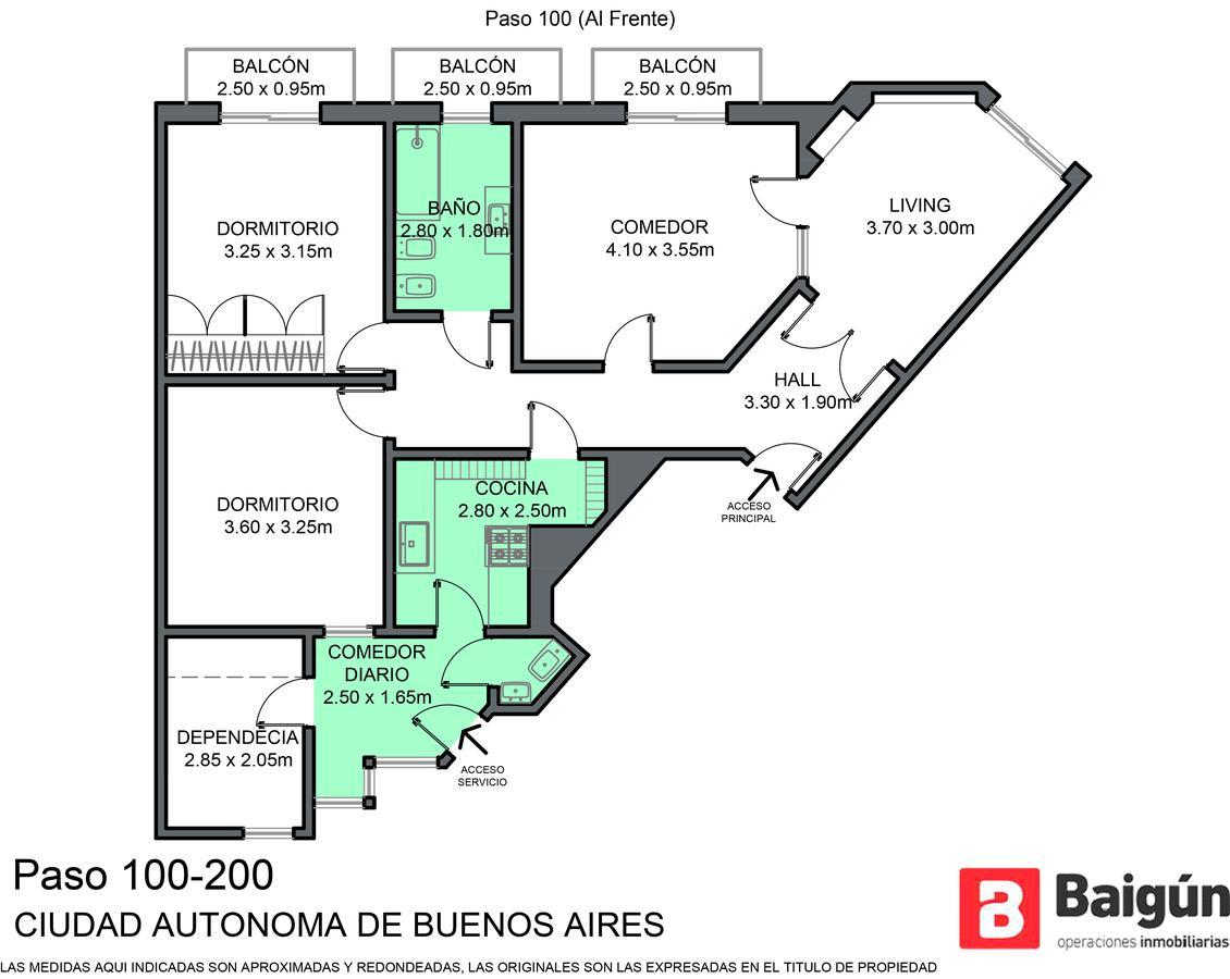 Foto Departamento en Venta en  Balvanera ,  Capital Federal  Paso al 100