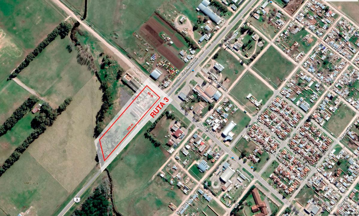 Foto Terreno en Venta en  Tres Arroyos ,  Interior Buenos Aires  Tres Arroyos: Excelente fracción de tierra de 1,3 hectáreas con 255 metros sobre la Ruta 3