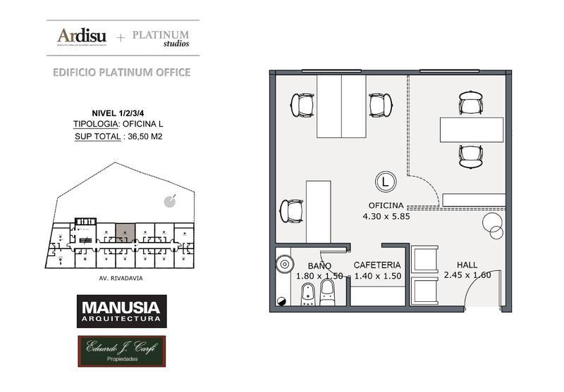 Foto Oficina en Venta en  Castelar Norte,  Castelar  Platinum Office - Rivadavia 19.861 (3L)
