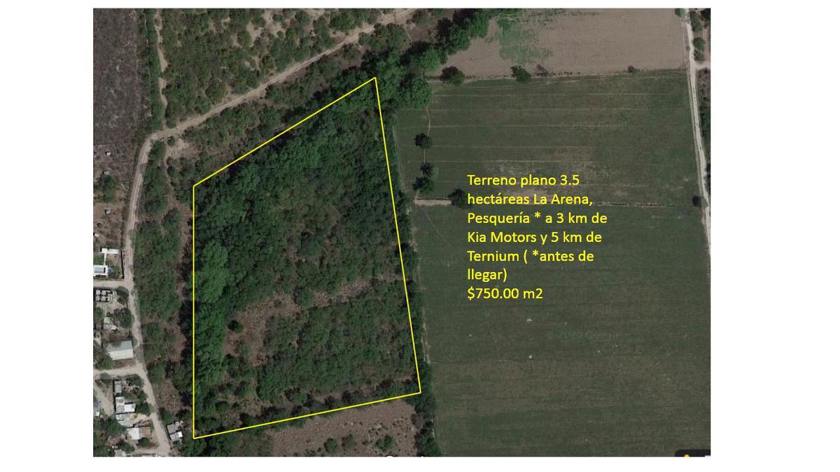 Foto Terreno en Venta en  La Arena,  Pesquería  Venta de terreno 3.5 hectáreas, Pesquería, Nuevo León