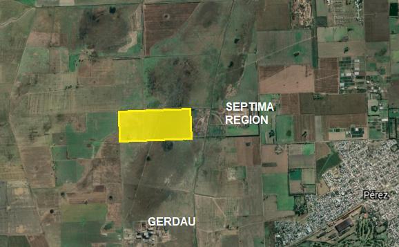 Foto Campo en Venta en  Perez ,  Santa Fe  a 2.300 metros al Norte de acceso GERDAU