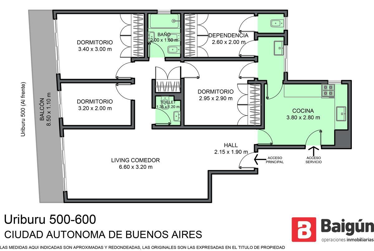 Foto Departamento en Venta en  Balvanera ,  Capital Federal  URIBURU al 500