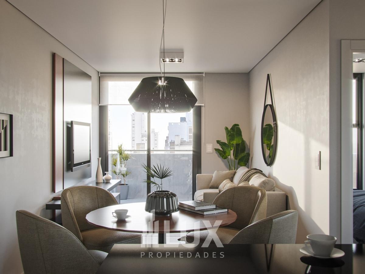 Departamento en construcción Un dormitorio contrafrente balcón San Juan 2600 - Centro