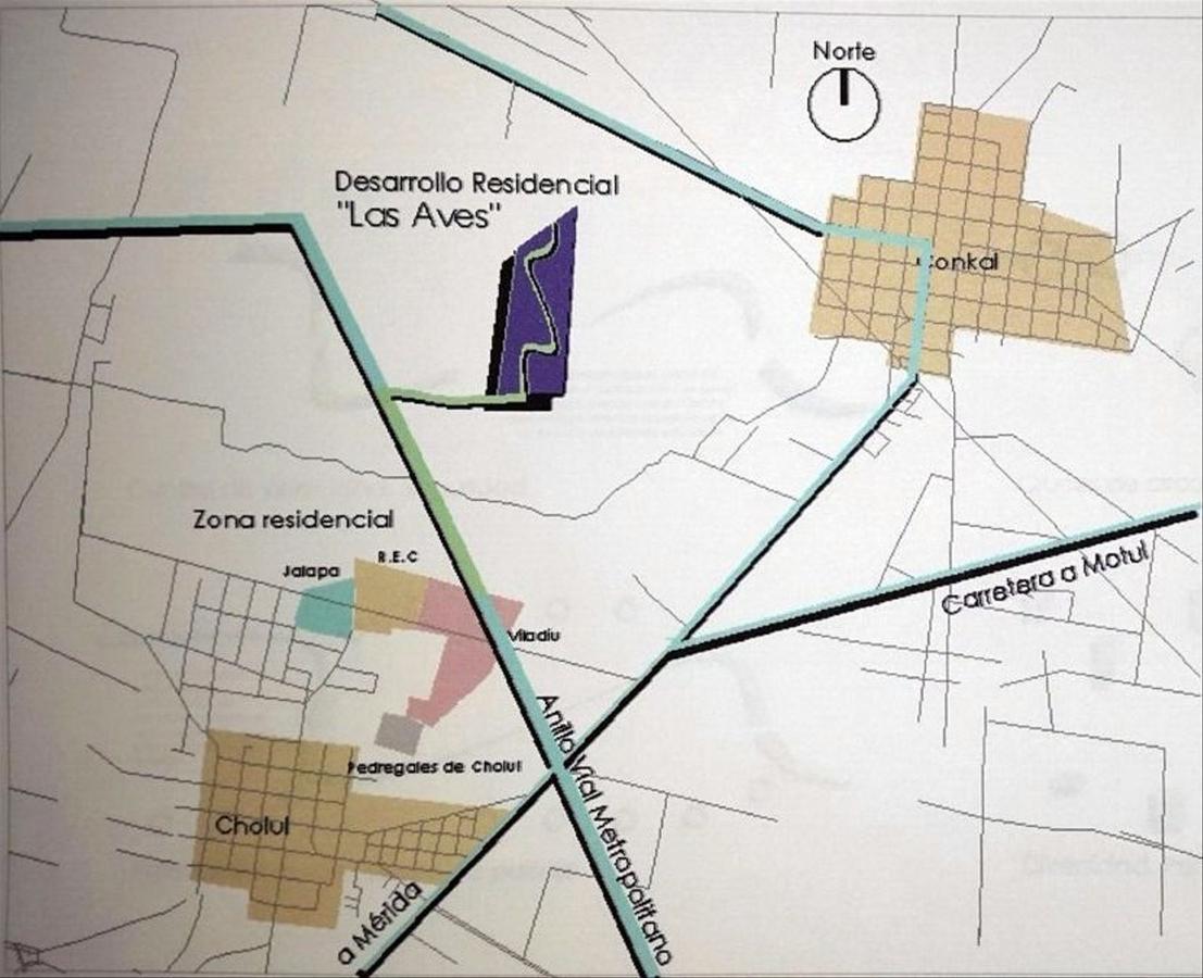 Foto Terreno en Venta en  Pueblo Kantoina,  Conkal  Terreno lote Residencial venta Conkal  Mérida Yucatán Avenida Alcatraces