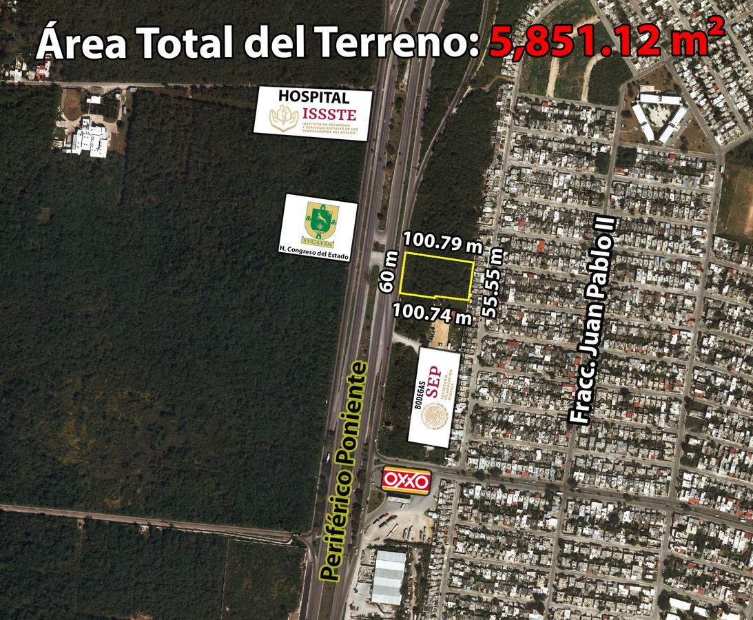 Foto Terreno en Venta en  Mérida ,  Yucatán  Terrenos  desde 1574.65 m2 En Periférico Poniente