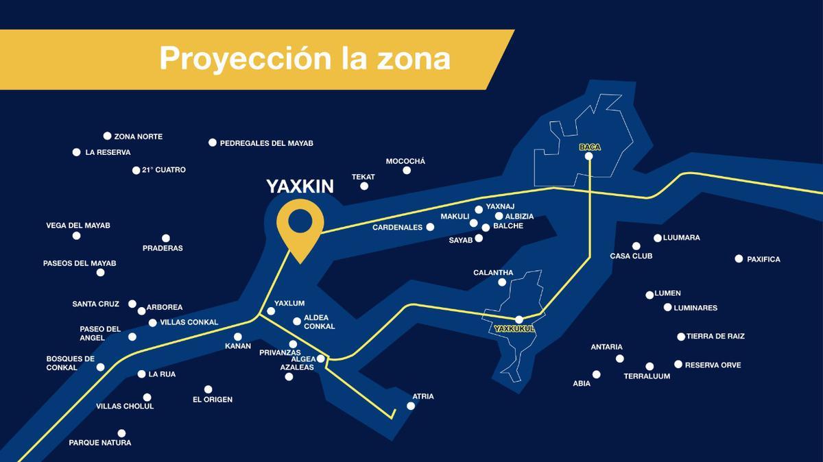 Foto Terreno en Venta en  Yaxkukul ,  Yucatán  Terreno de inversión, proyecto Yaxkin 4 etapa, ya cuenta con calles blancas