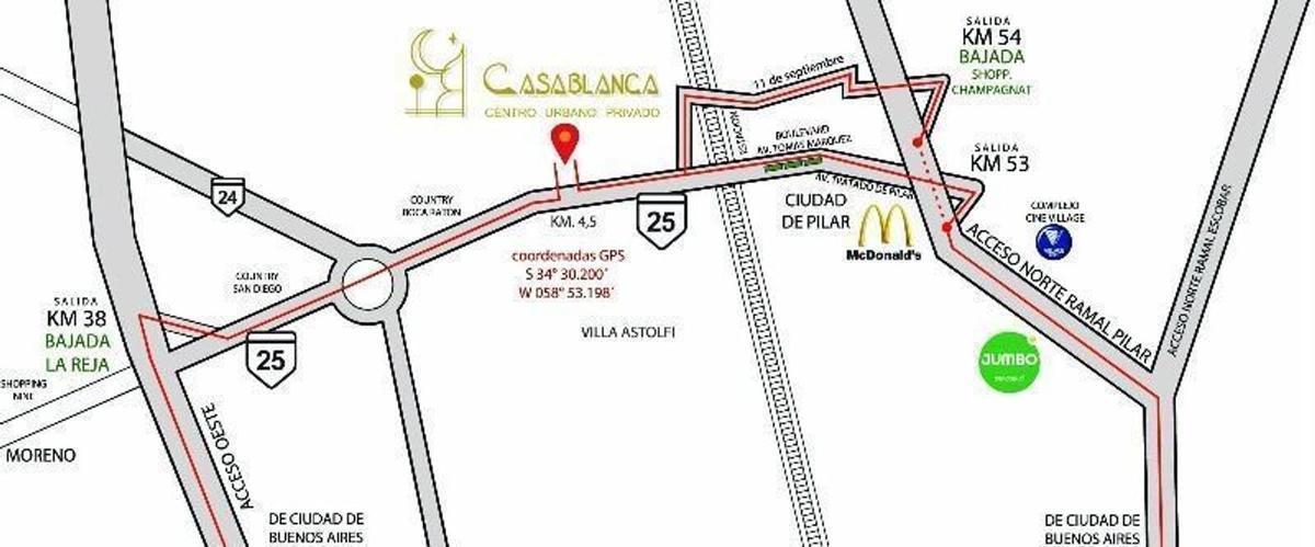 Foto Casa en Venta en  Casablanca,  Countries/B.Cerrado (Pilar)  Ruta 25 Km. 4,5