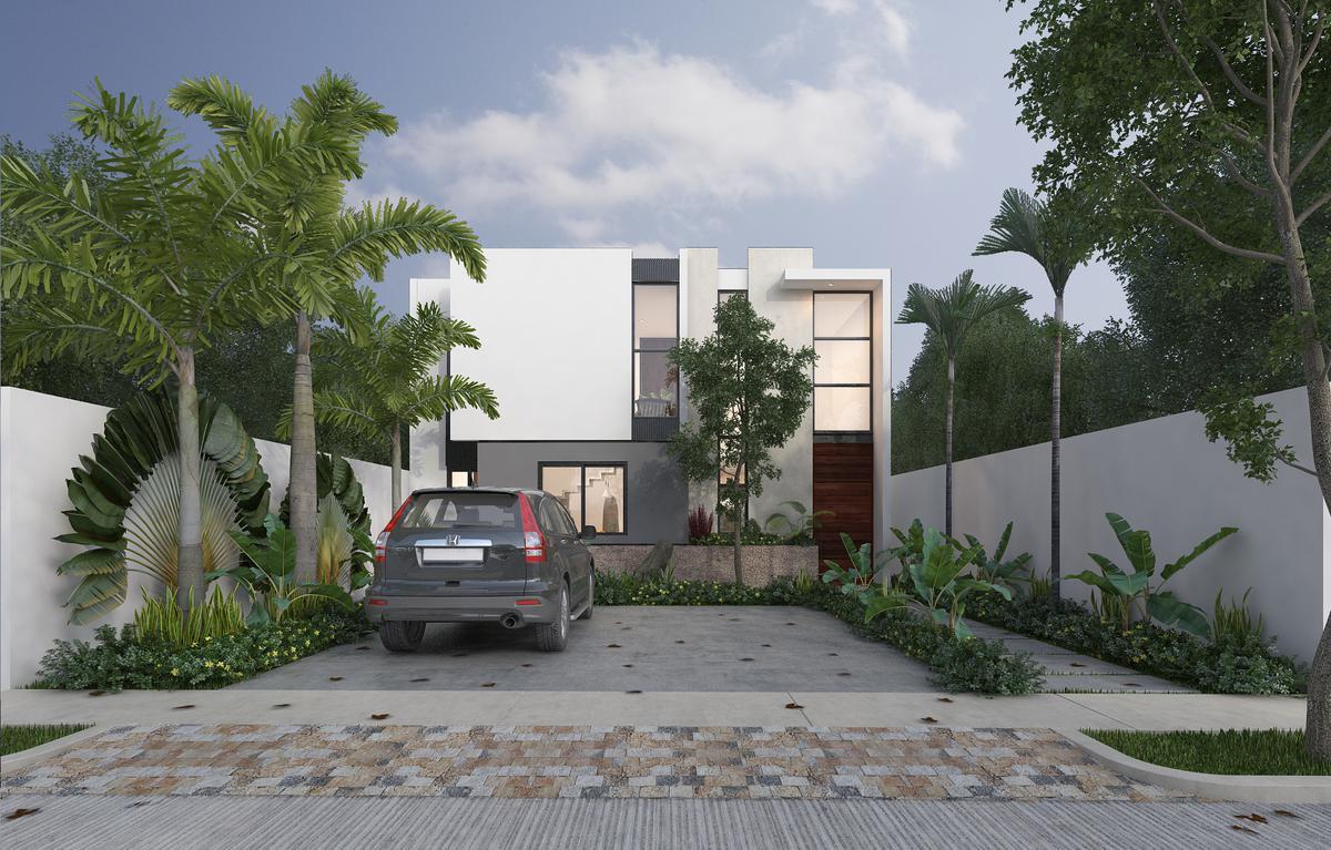 Foto Casa en Venta en  Conkal ,  Yucatán  ¡Ya ax-beh Residencial, Mod A Conkal ! Amplias casas con Alberca  ,zona norte ,Mérida  Yucatán.