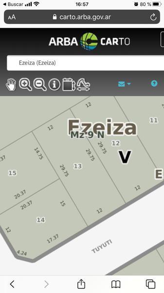 Foto Terreno en Venta en  Ezeiza ,  G.B.A. Zona Sur  Chaco al 100 ante esquina Emilio Mitre