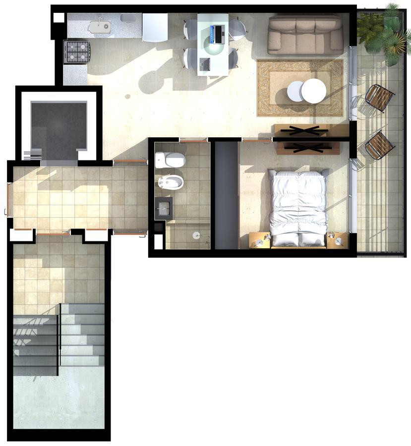 Foto Departamento en Venta en  Centro,  Rosario  Lisboa  - Paraguay 331 - 1  dormitorio  Torre1 9B