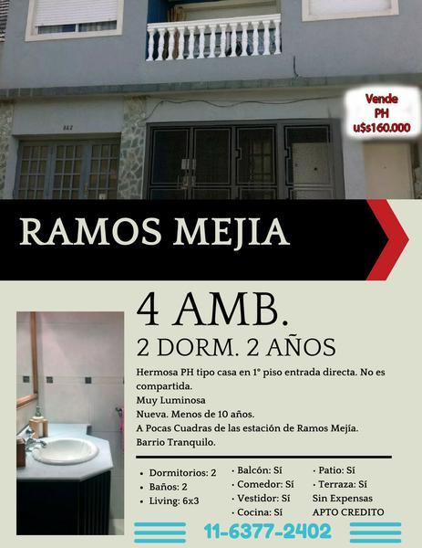 Foto PH en Venta en  Ramos Mejia,  La Matanza  Bulnes al 300
