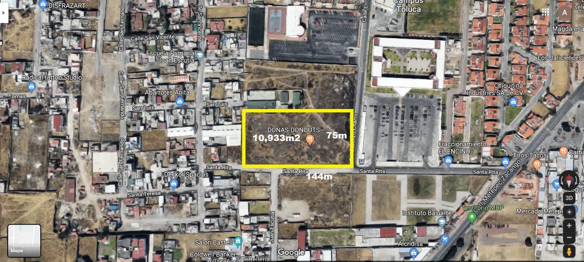 Foto Terreno en Venta en  San Jorge Pueblo Nuevo,  Metepec  VENTA TERRENO POR LA UVM METEPEC