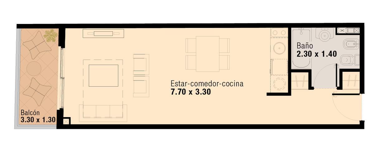 Foto Departamento en Venta en  Flores ,  Capital Federal  Pavillon San Jose - Unidad 113