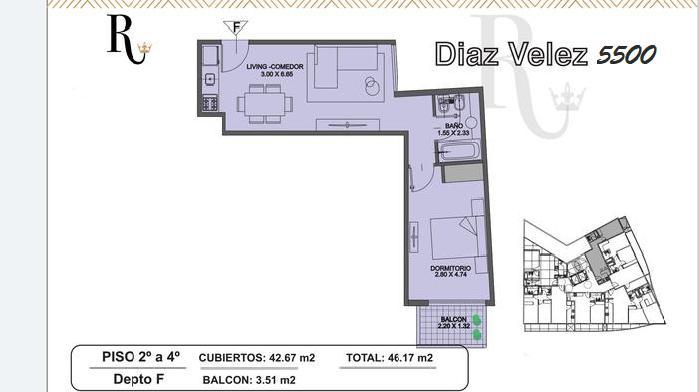 Foto Departamento en Venta en  Caballito ,  Capital Federal  Díaz Vélez al 5500 Departamento en construcción  2 amb PATIO. Edifico c/ PISCINA SOLARIUM GYM KIDS CLUB SUM
