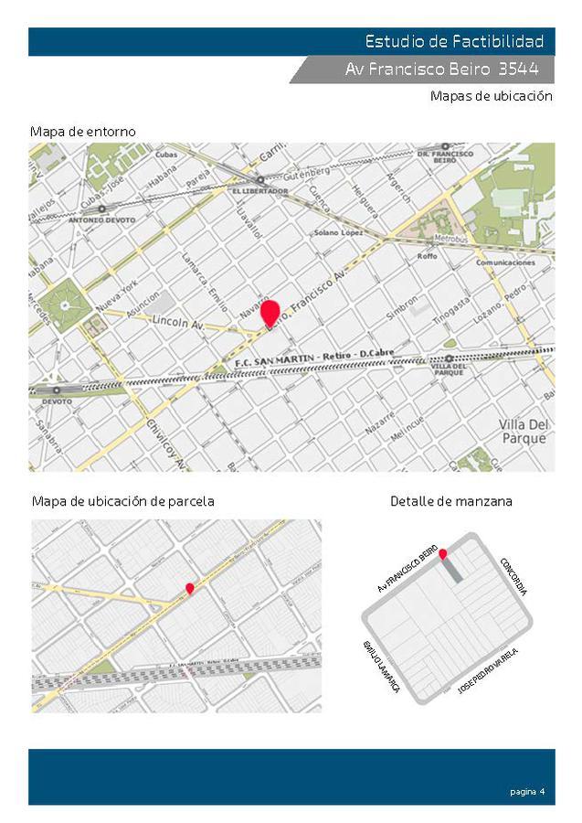 Foto Terreno en Venta en  Villa Devoto ,  Capital Federal  Av. Francisco Beiró  **   3540 / 3544 . Vendibles 1936,88  m2.   ACEPTAMOS  usd 500000. más 300m2.