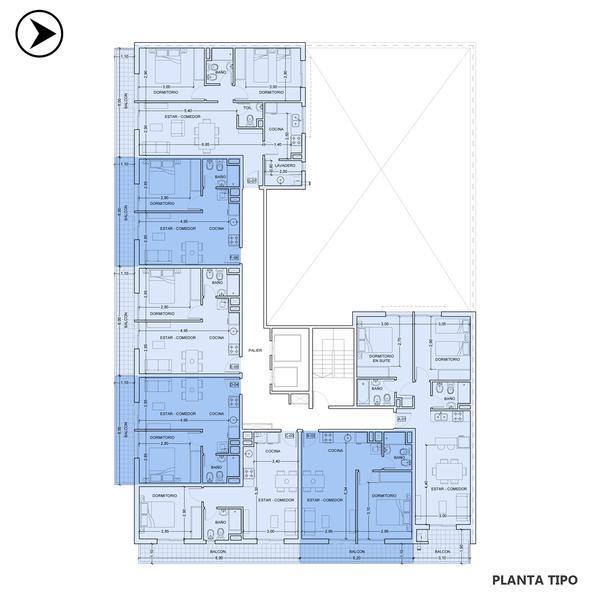 Venta departamento 1 dormitorio Rosario, República De La Sexta. Cod CBU24602 AP2290721. Crestale Propiedades