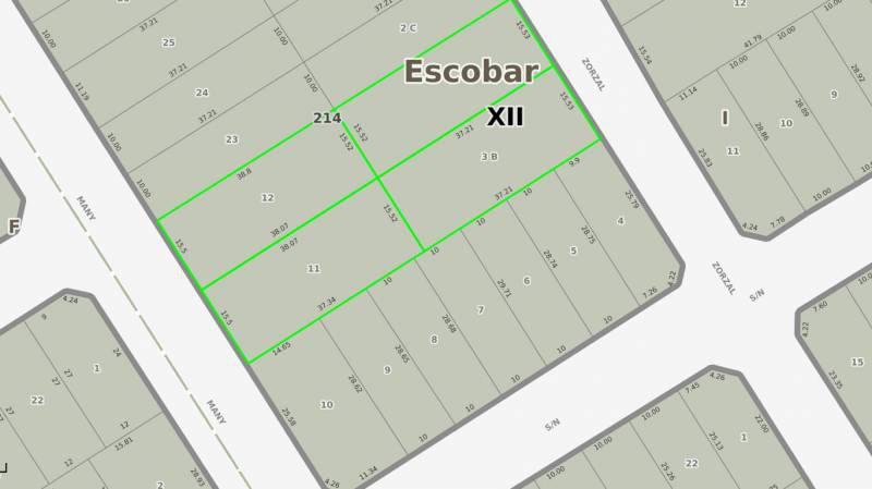 Foto Terreno en Venta en  Belen De Escobar,  Escobar  Zorzal 280